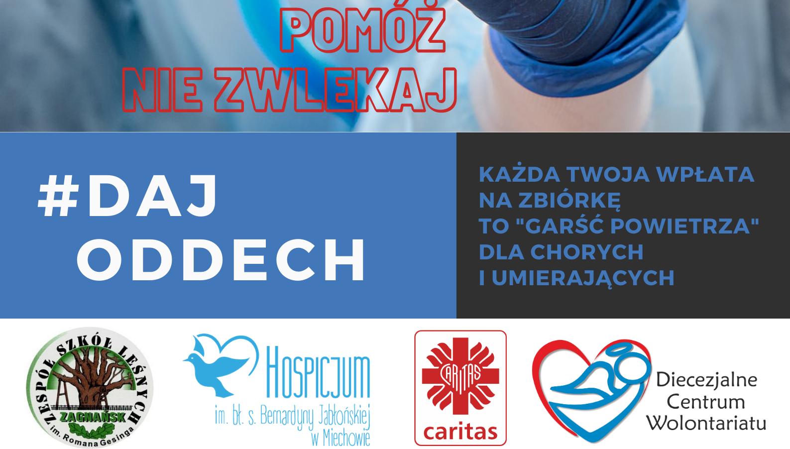 """""""Daj Oddech"""" – akcja na rzecz Hospicjum w Miechowie"""