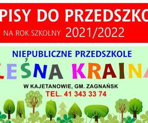 Zapisy do naszego Przedszkola w Kajetanowie